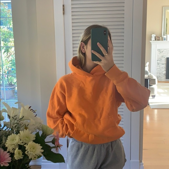 TNA orange hoodie